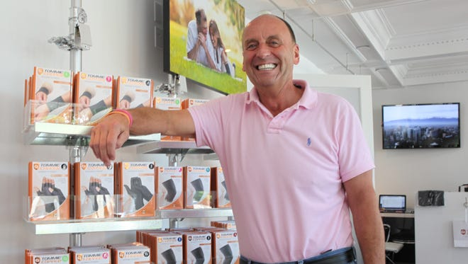 Tom Kallish, president of Tommie Copper, in the retail portion of his company's Mount Kisco headquarters July 16, 2013.