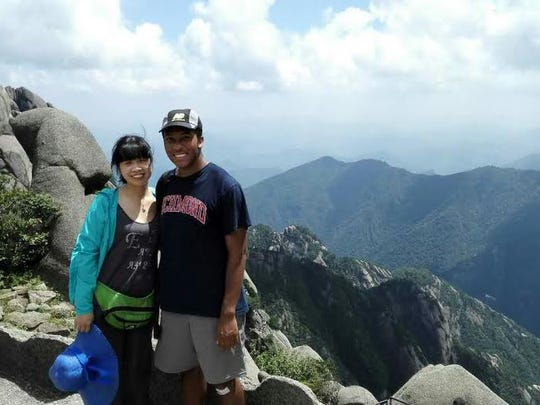 Winslow Township graduate Austin Yanez (right) is shown in China last year at Yellow Mountain. He'll be back in China again soon. Yanez received another State Department scholarship to return to China for the entire 2016-17 academic year to study the language and immerse himself in the culture.