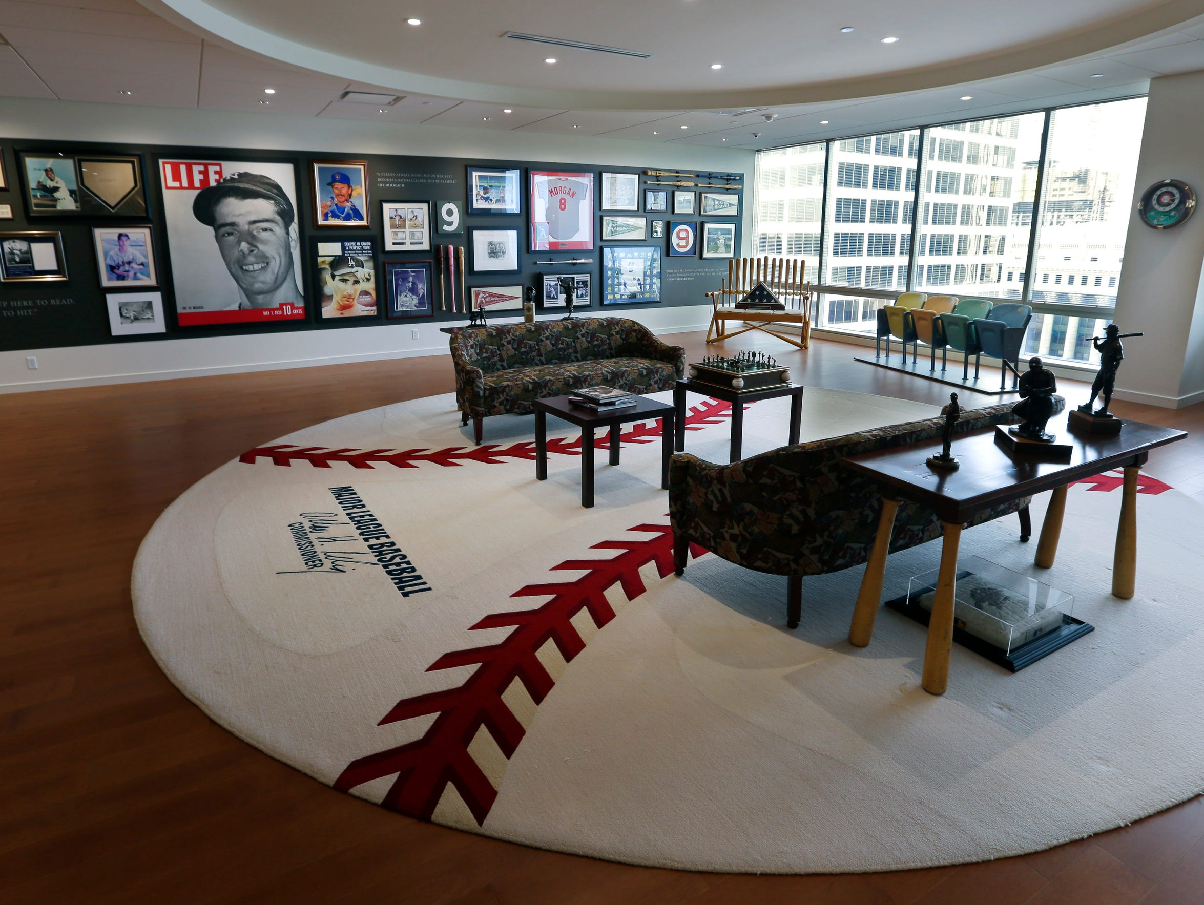 Bud Selig's office on the 14th floor of the 833 E.