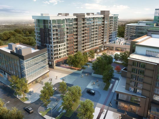 A rendering of the new apartments planned at the Camperdown
