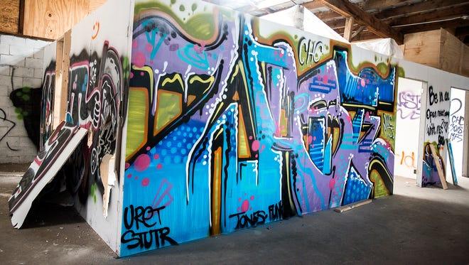 Graffiti in the River Arts District .