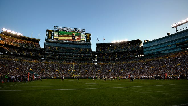 Green Bay Packers against the New Orleans Saints during the Sept. 3 preseason game at Lambeau Field in Green Bay.