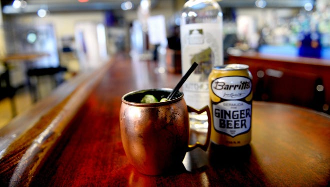 A Moscow Mule cocktail at Zoobie's Old Town Tavern. A Moscow Mule cocktail at Zoobie's Old Town Tavern Friday, May 13, 2016.