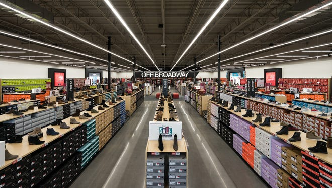 Off Broadway Shoe Warehouse opened at One Bellevue Place on Thursday, Oct. 26, 2017.
