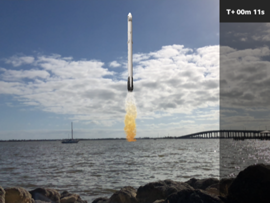 Using AR technology, the 321 LAUNCH app lets the user