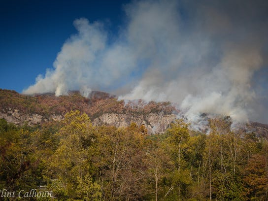 The Party Rock fire in Lake Lure.