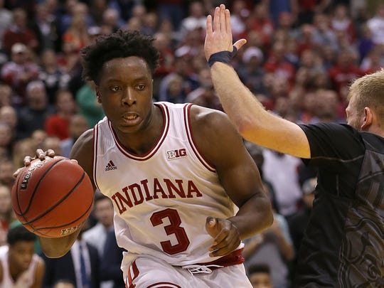 OG Anunoby declared for the draft despite tearing his ACL in January.