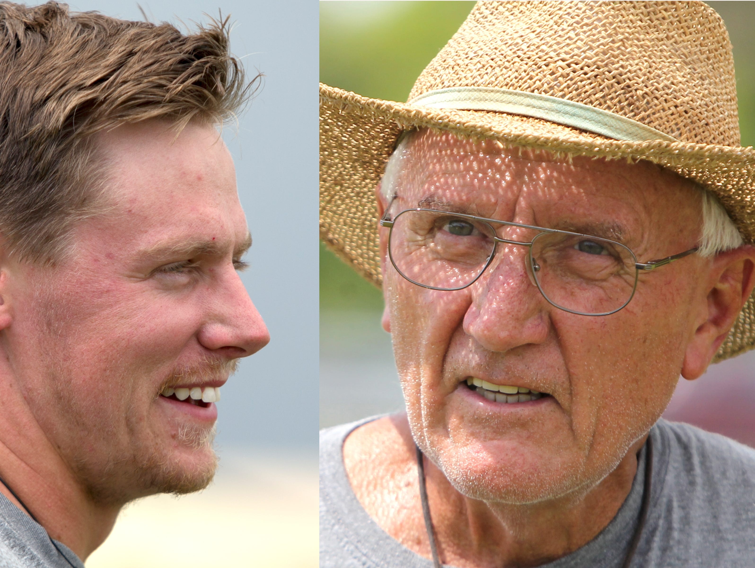 Cullen, Dick and Pat O'Brien, three generations of football coaches at Ida S. Baker High School in Cape Coral.