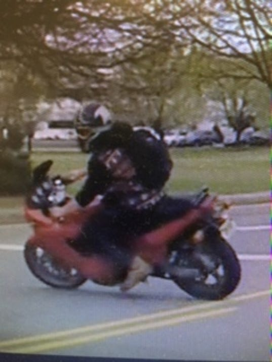 Pequannock Police Looking For Biker With Eagle Helmet