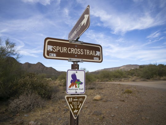 The Maricopa Trail runs through the Spur Cross Ranch