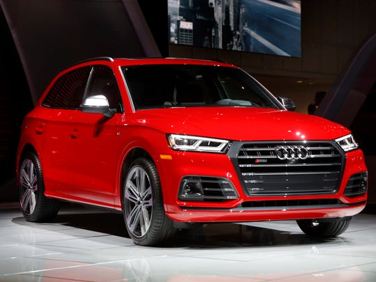 The Audi S Q5 is displayed at the North American International Auto Show in Detroit, Monday, Jan. 9, 2017. The only place it is made is in Mexico.