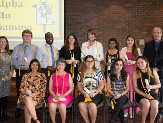 Eleven Middlesex County College students were recently