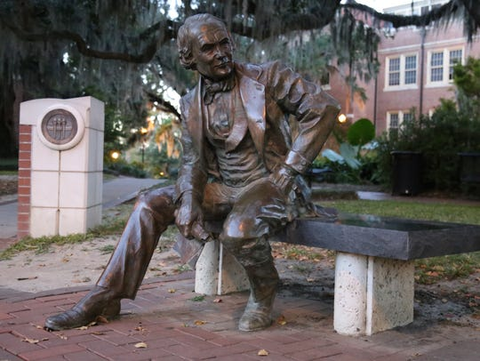 Currently, the Francis Eppes statue resides outside