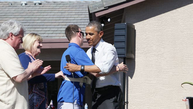 President Obama makes a surprise visit to Army veteran Cory Remsburg, of Gilbert.