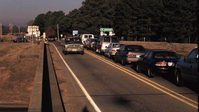 Motorists traveling along Mississippi 463 at I-55 in Madison