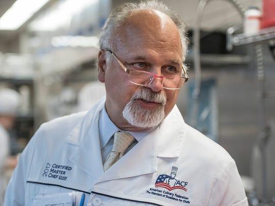 Retired Schoolcraft Chef Kevin Gawronski, who served