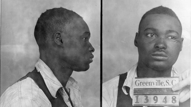 Willie Earle is shown in a police mug shot. Accused of robbing and killing a white taxi driver, he was lynched by a group of whites in 1947.