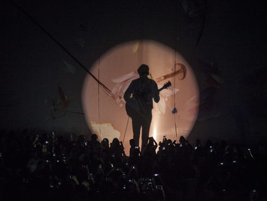 Harry Styles performs during his Phoenix tour stop