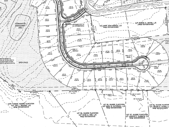 The proposed Parker's Walk subdivision off Batesville Road in Five Forks.
