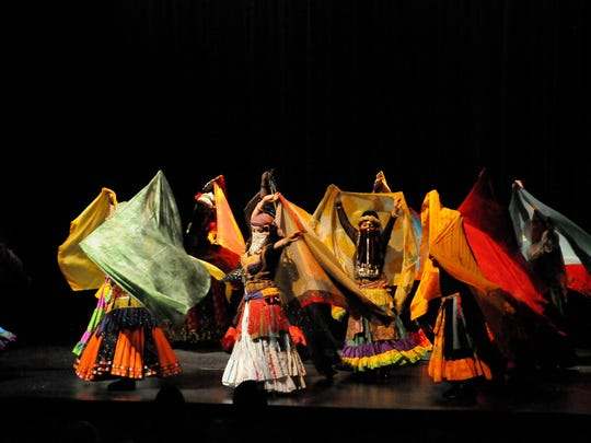 Jewells of the Desert perform at a recent dance showcase. The 10th annual We Are One — Dance and Drum! begins with a 6:40 p.m. pre-program Saturday at the Rio Grande Theatre.