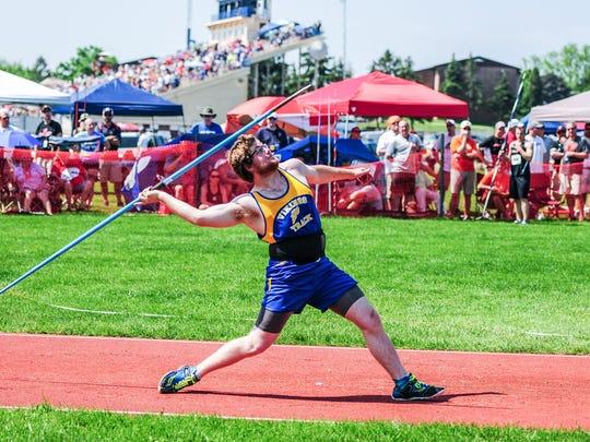 Northern Lebanon's Dakota Leonhard's career-best throw