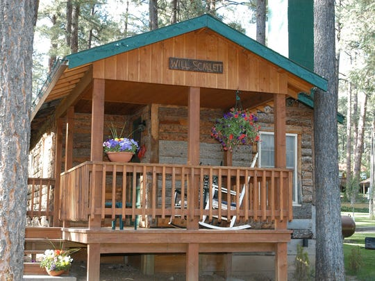 The Will Scarlet cabin at Forest Home Cabins in Ruidoso,
