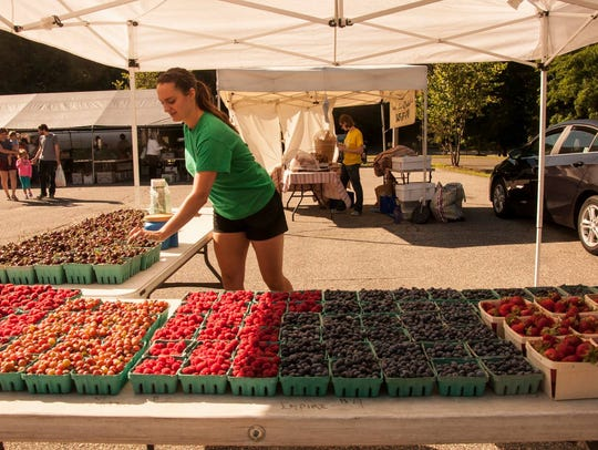 Produce at the Ringwood Farmers Market.