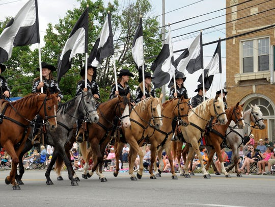 The Republic Bank Pegasus Parade has impressive equestrian