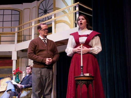 Lizzy McCawley as Eliza Doolittle and Robert Stuart