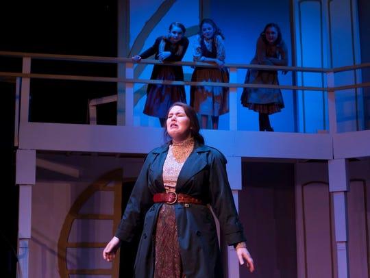 Lizzy McCawley as Eliza Doolittle in Quincy Music Theatre's