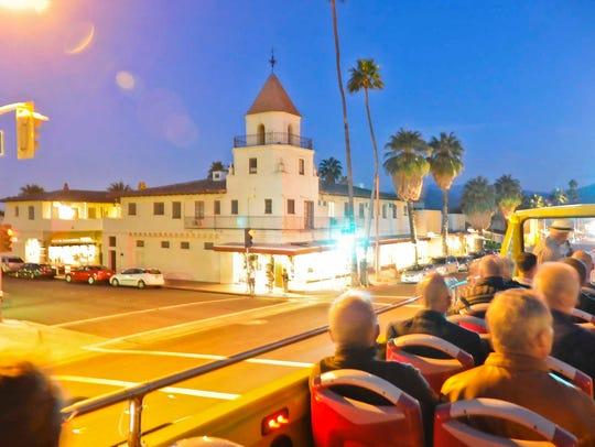 Bus tour night during Modernism Week.