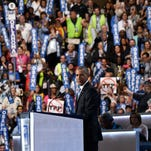 Fact check on Night 3 of the Democratic convention: Obama's false claims, Kaine's serial offense