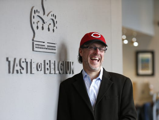 Jean-Francois Flechet (Chief Waffle Officer), owner of Taste of Belgium poses for a business profile.