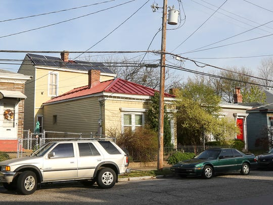 The solar panels on the roof at 173 William Street in Clifton on the yellow house second from left.March 30, 2016