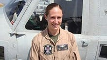 Capt. Elizabeth Kealey died from injuries sustained in the helicopter crash Friday, Jan. 23, 2015, during a training exercise at Twentynine Palms Marine base.