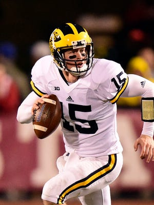 Michigan quarterback Jake Rudock was picked by the Lions in the 6th round of the 2016 NFL Draft.