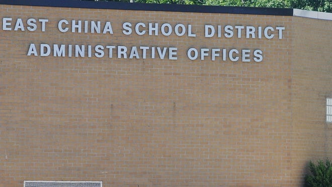 East China School Administration building along Meisner road in East China Township.