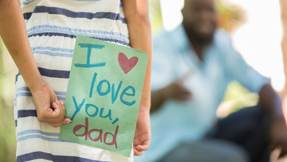 Homemade cards are among the many Father's Day presents