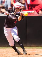 UL's Kassidy Zeringue has made a successful transition to second base this season.