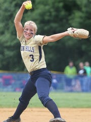 Angela Saric, of Indian Hills, gets ready to pitch