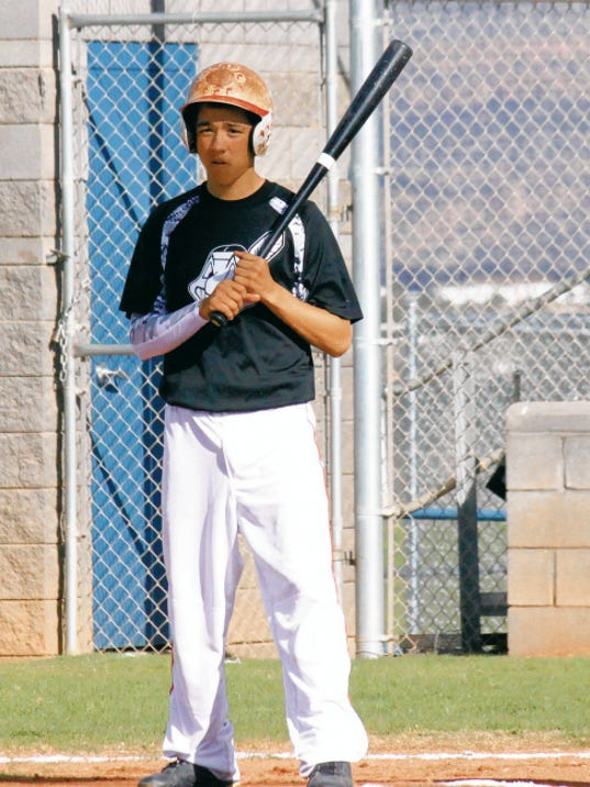 Danny Udero/Sun-News   Cobre's Andru Sanchez was an All-State first team member in Class 4A this year as a shortstop.