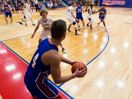New Oxford Boys Basketball Vs. Spring Grove