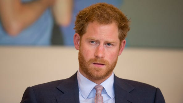 Prince Harry on July 7, 2016, as he takes part in a