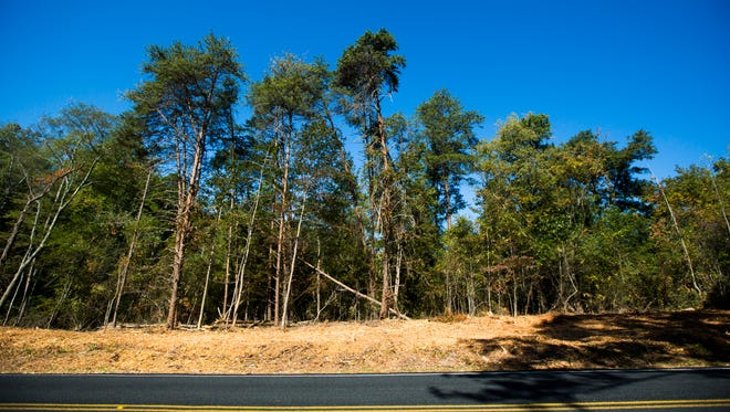 Land is cleared to provide room for construction on McConnell Springs Road on Monday, October 17, 2016 in Anderson.