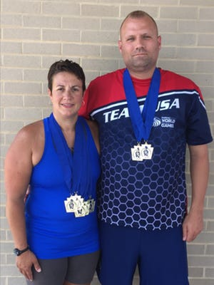Husband and wife Matt and Wendy Bartal of Lebanon combined to win seven gold medals at the recent Keystone State Games in York.