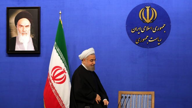 President Hassan Rouhani in Tehran on March 6, 2016.