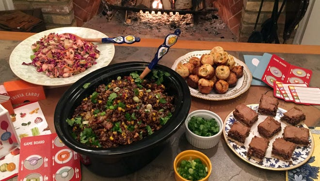 Winter Slaw, Slow Cooker Chicken Enchilada Quinoa, Mini Provolone Popovers and Dream Bars provide the color we all crave this time of year.