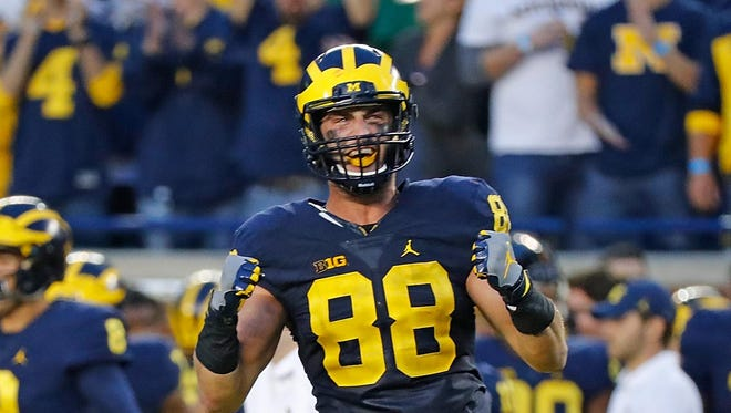 "Michigan's Jake Butt says, ""Since I got here as a freshman everybody's played up and played their best game against us."""