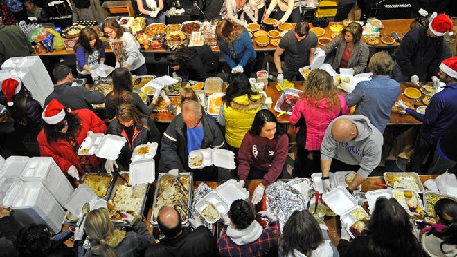 Gobble Gobble Give is a one-day event that makes it really easy to lend a hand. Volunteers assemble the meals of stuffing, turkeys, veggie casseroles and desserts, and others delivered those meals and clothes to people living on the streets of Nashville.