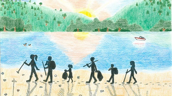 Grand prize ORSANCO River Sweep poster winner was at one time Katie Long, a West Virginia High school student.